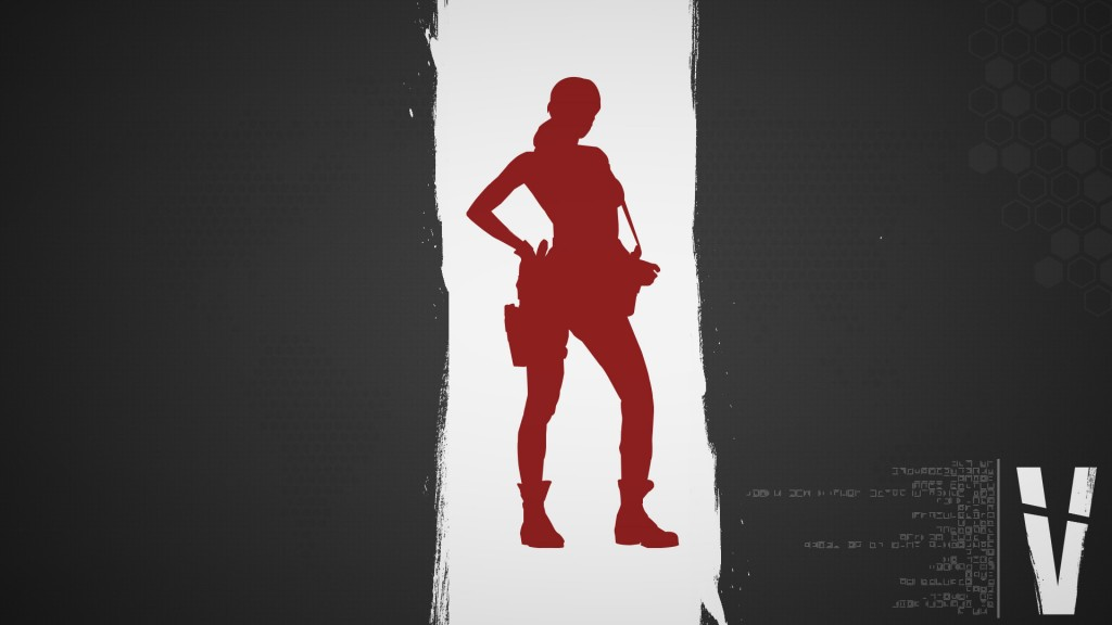 Metal Gear Solid 5 Quiet Wallpaper Gray Red