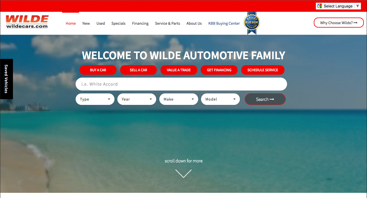 Wilde Automotive Family Group Website
